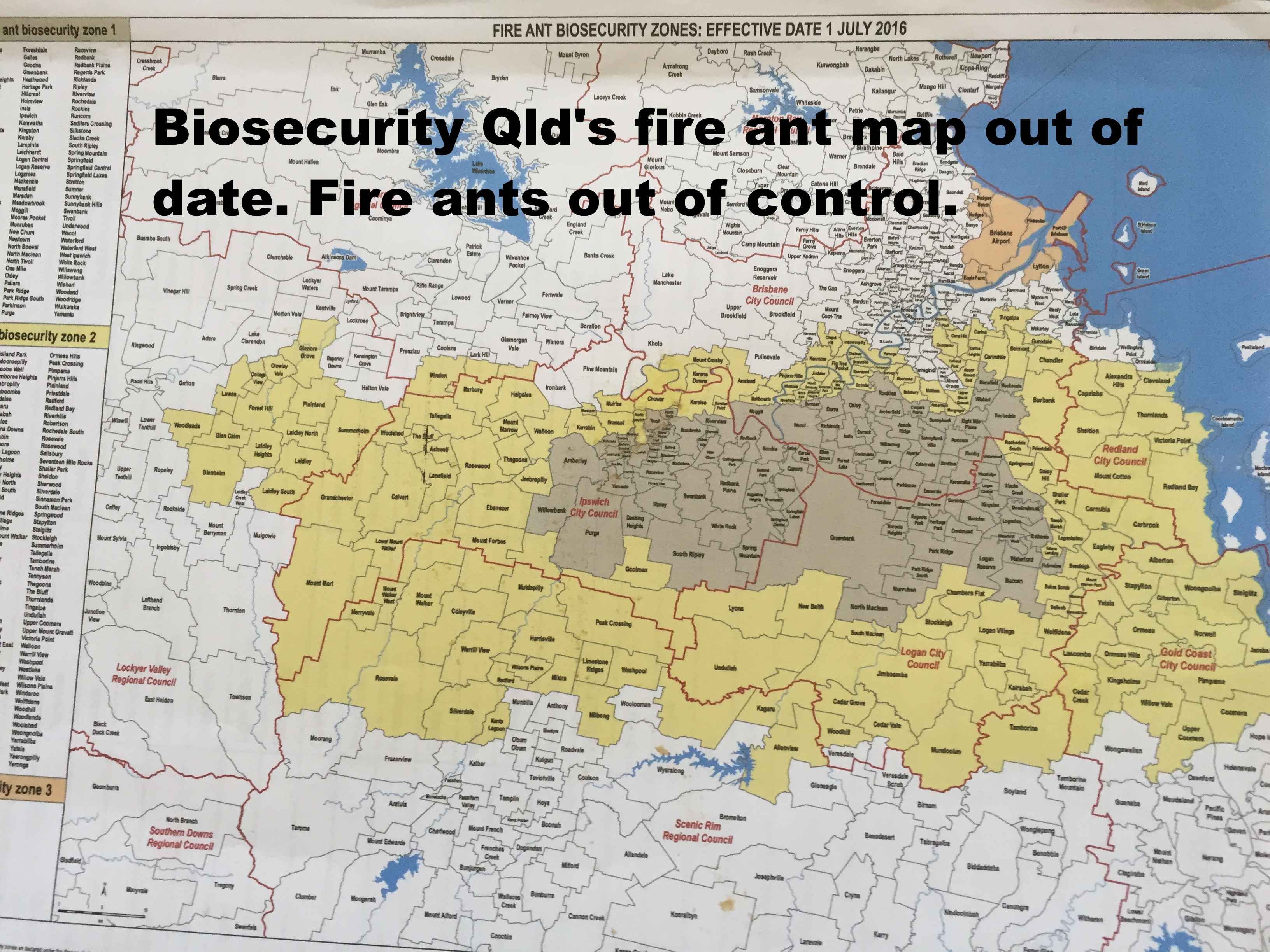biosecurity queensland�s fire ant map is out of date fire