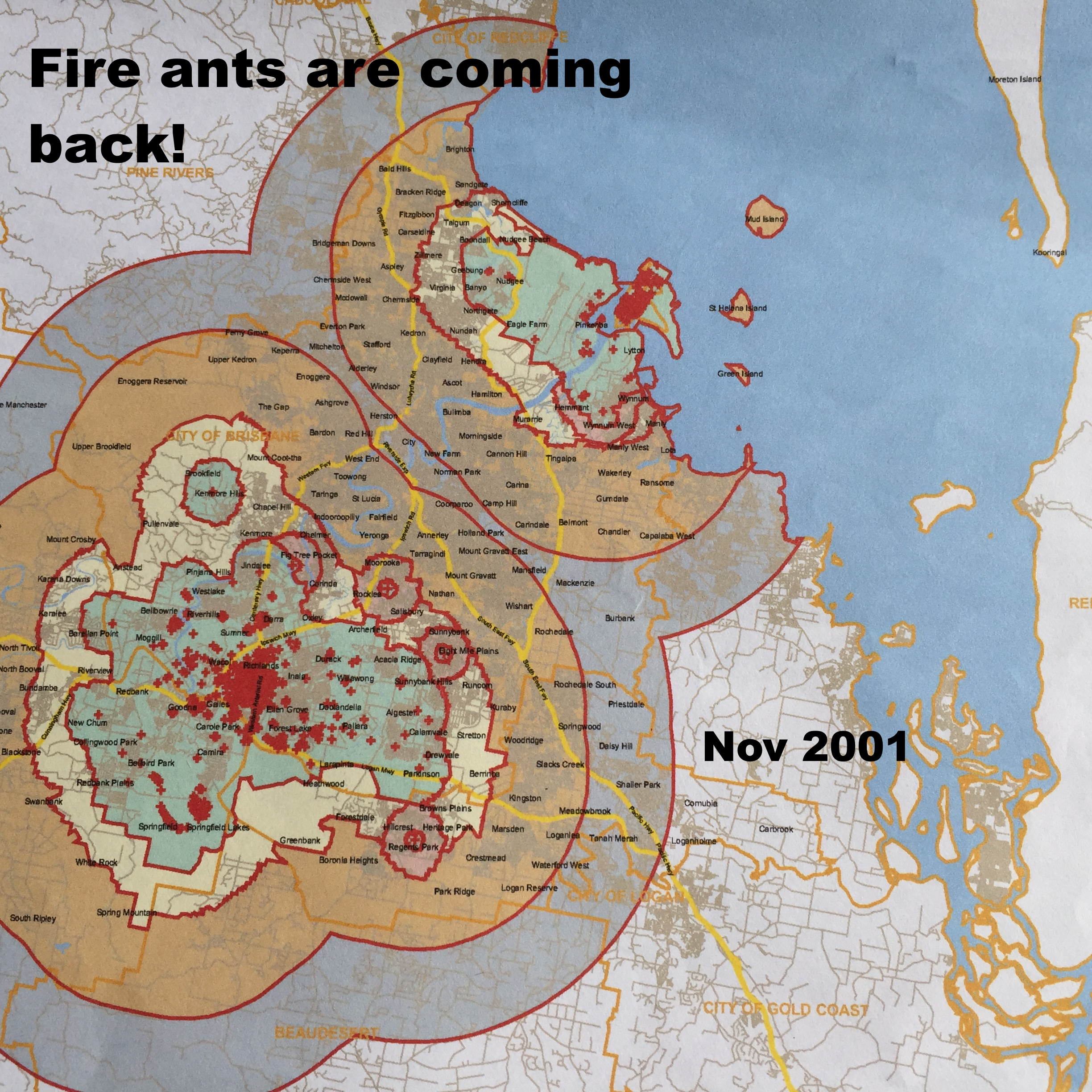 Petition Deputy Prime Minister Barnaby Joyce Stop The Spread Of - Map of where fire ants are found in the us